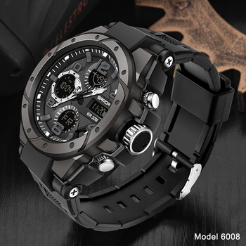SANDA Top Luxury Watches Men Military Army Mens Watch Waterproof Sport Wristwatch Dual Display Watch Male Relogio Masculino 14