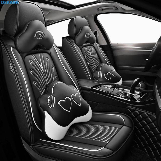 جديد الجلود مقعد السيارة يغطي ل vw golf 4 5 VOLKSWAGEN بولو 6r 9n باسات b5 b6 b7 تيجوان اكسسوارات يغطي ل مقعد سيارة