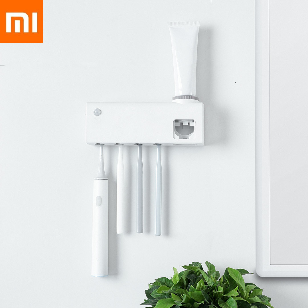 Xiaomi Smart Disinfection Toothbrush Holder UVC UV Sterilization Human Induction High-Performance Rechargeable Battery Wall Type image