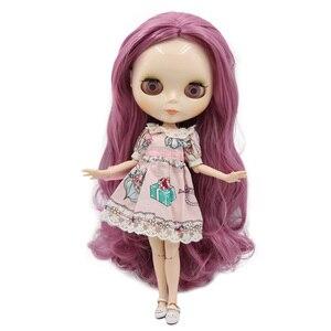 Image 5 - Muñeca Blyth de fábrica, cuerpo articulado con cara brillante y piel blanca, A & B 1/6 conjunto de mano, muñeca de moda, maquillaje diy, precio especial