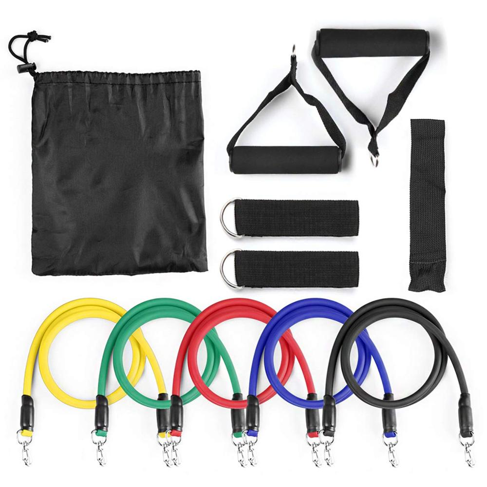 Fitness Elastic Exercise Resistance Bands Crossfit Yoga Rubber Tubes Yoga Pull Rope Loop Chest Muscle Grip Training Workout Gear