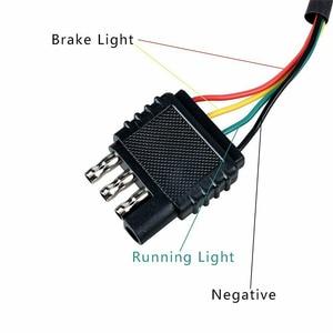 Image 5 - 1 pces 12led/15led caminhão luz de engate reboque traseiro luz de freio parar cauda singal lâmpada com preto vermelho 2 Polegada quadrado receptor padrão