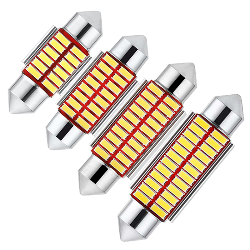 1 шт. C5W светодиодный Canbus без ошибок гирлянда 31 мм 36 мм 39 мм 41 мм 12 в белый 4014 SMD C10W светодиодный светильник для салона автомобиля