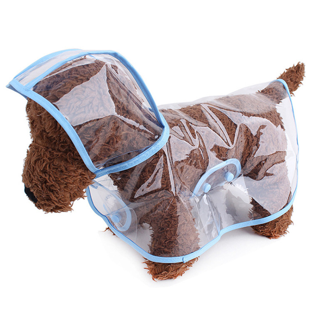 Dog Raincoat Teddy Small Dog Transparent Plastic Waterproof Fashion Poncho Pet Raincoat Pet Supplies.