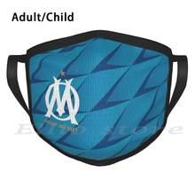 Olympique de marselha euro club adulto crianças cachecol quente diy máscara de futebol olympique de marselha futebol americano esportes