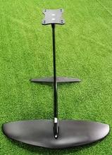 Più grande L aliscafo Puro 3K Carbon Ali + fusoliera In Alluminio albero piatto Aliscafo Fogli per SUP Surf Foglio