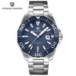 2019 New Brand PAGANI DESIGN 1617 Men's Military Sport Mechanical Watches Waterproof Stainless Steel Top Brand Luxury Men Watch