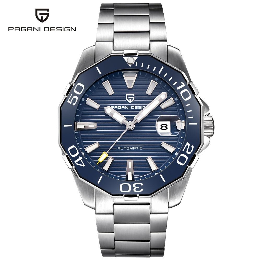 2019 nouvelle marque PAGANI DESIGN 1617 hommes Sport militaire mécanique montres étanche en acier inoxydable haut marque de luxe hommes montre