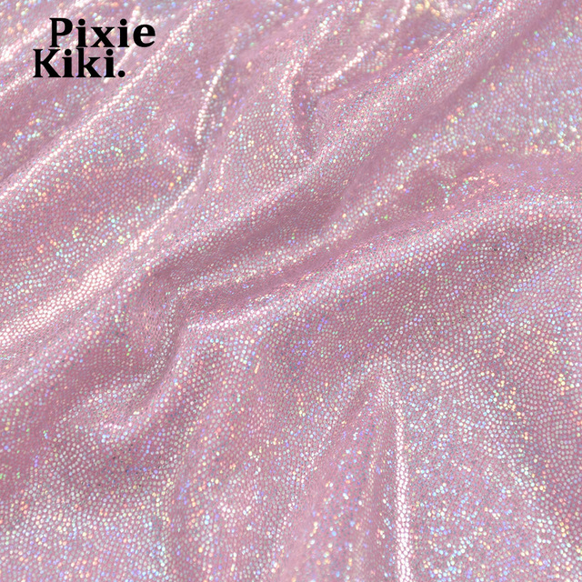 PixieKiki 2021 Glitter Pink Two Piece Set Fairy Grunge Crop Top Mini Skirt Summer Clothes Sexy Club Rave Festival Outfit P82CA11 6