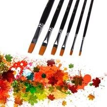 6 шт нейлон волос набор кистей для рисования для художника акварельные акриловые масляные краски ing Рисование 72XF