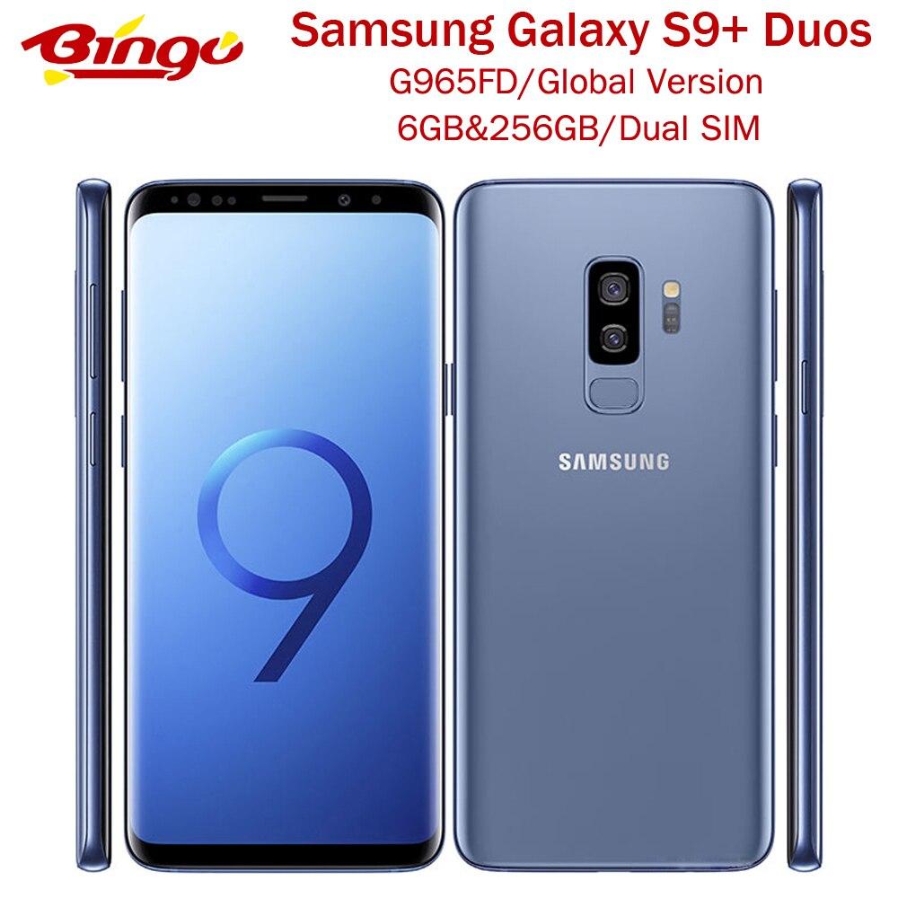 Мобильный телефон Samsung Galaxy S9 + Duos S9 Plus G965FD, 256 ГБ, две SIM-карты, 4G LTE, Android, Восьмиядерный процессор, 6,2 дюйма, 12 МП и 8 Мп, ОЗУ 6 Гб ПЗУ, 256G NFC