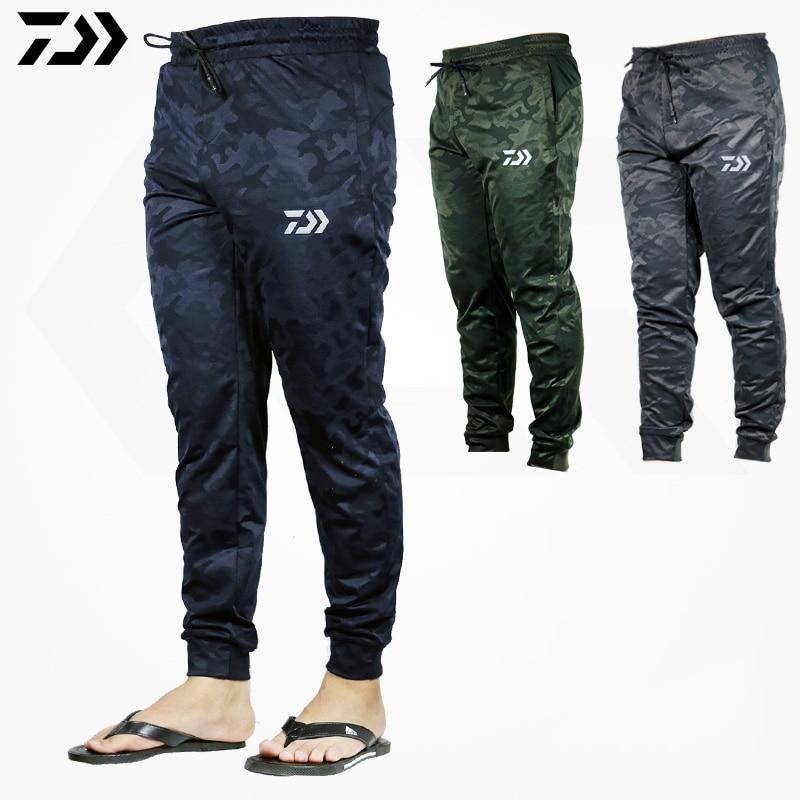 DAWA Men Outdoor Sports Pants Camouflage Fishing Pants Anti-static Anti-UV Quick Drying Windproof Breathable Pants