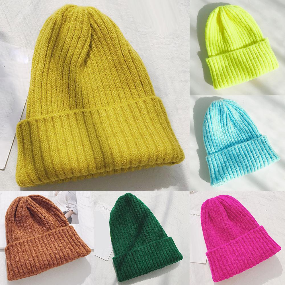Winter Hat For Women Beanie Hat With Fleece Lining Men Lady Knitted Winter Cap For Female Girl Red Black White Pink Grey
