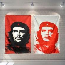 Che Guevara Cuba Bandiera Banner Poliestere 144*96 centimetri appendere al muro 4 anelli di tenuta Bandiera Personalizzata Decorazione dell'interno