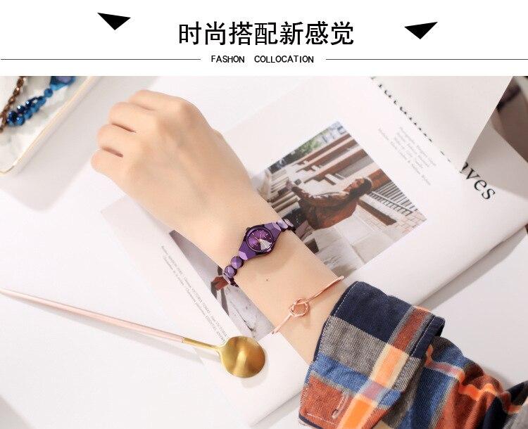 moda pulseira relógio simples moda feminina à