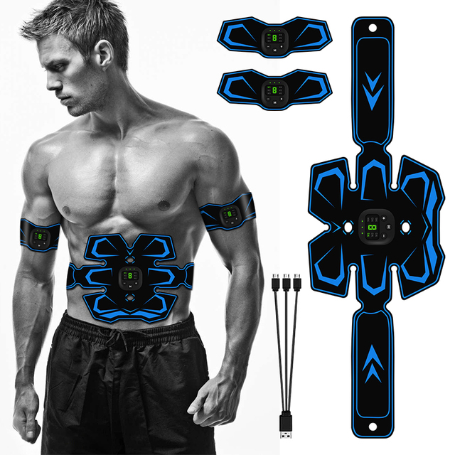 Electrical Muscle Stimulator EMS Wireless Muscle Trainer Muscle Toner Abdominal Muscle Massager for Arm Leg Body Pain Relief