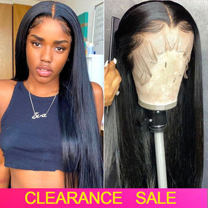 4x4 5x5 6x6 Lace Closure Wig 13x6 HD Transparent Lace Frontal Wigs Lace Front Human Hair Wigs Brazilian Straight Lace Front Wig(China)