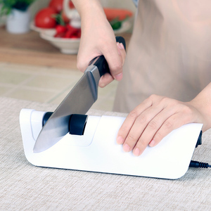 Image 4 - RISAMSHA aiguiseur de couteaux électrique professionnel en diamant, aiguisoir de couteaux, affûtage de lames outils de cuisine système daffûtage