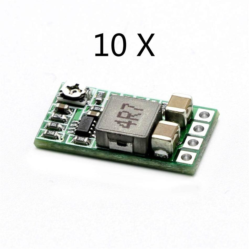 10 шт ультра-маленький мини-DC-DC Шаг вниз Питание модуль 3A понижающий преобразователь Регулируемый 1,8 V 2,5 V 3,3 V 5V 9V 12V для Arduino