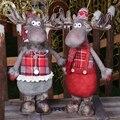 Рождественская фигурка, украшения, рождественский подарок для детей, Рождественская Кукла лось, рождественские украшения для дома, олень