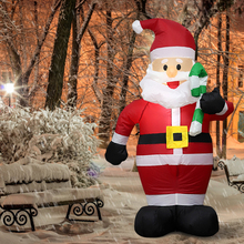 120cm Giant Santa Claus with Crutch Inflatable Toys Christmas Props Decor Colorful Snowman for Household Parties Accessories