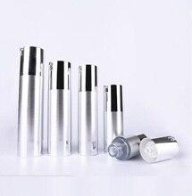 Bomba de vacío sin aire UV plateada de 30ml, botella de loción con bomba de plata, base de Fondo plateado utilizada para contenedor de cosméticos
