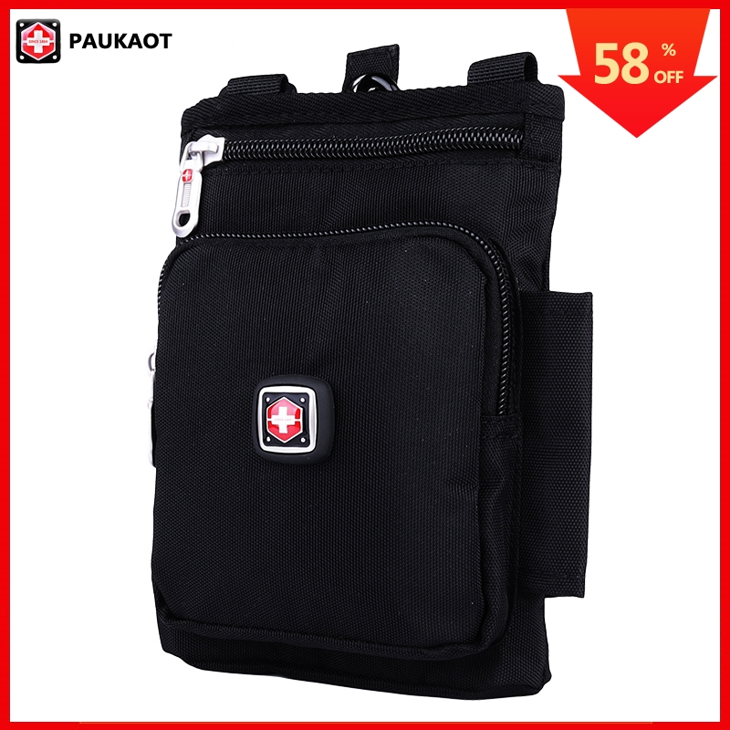 PAUKAOT Waist Packs Small Belt Bag Bum Hip Bags Money Phone Purse Pouch Fanny Pack Molle Pockets For Men