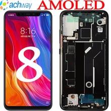 """Amoled para xiaomi mi 8 lcd mi8 display digitador assembléia tela de toque m1803e1a lcd com quadro 6.21 """"para xiaomi mi 8 display"""