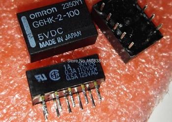Darmowa wysyłka dużo (5 części partia) 100 oryginalny nowy G6HK-2-100-5VDC G6HK-2-100-5V G6HK-2-100-DC5V 10PINS 2A 5VDC przekaźnik sygnału tanie i dobre opinie CN (pochodzenie) PRZEKAŹNIK ELEKTROMAGNETYCZNY Mały pobór mocy G6HK-2-100 5VDC USZCZELNIONE telekomunikacyjne
