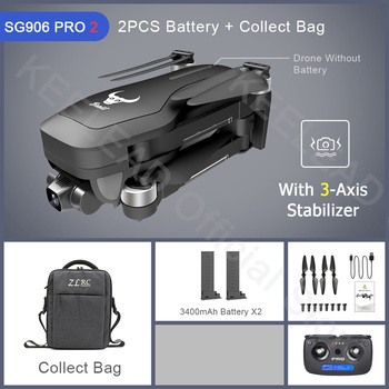 ZLRC Beast SG906 Pro 2 Brushless Motor with 3-Axis Gimbal GPS 5G WIFI FPV Professional 4K Camera RC Drone Quadcopter Dron PRO2 18