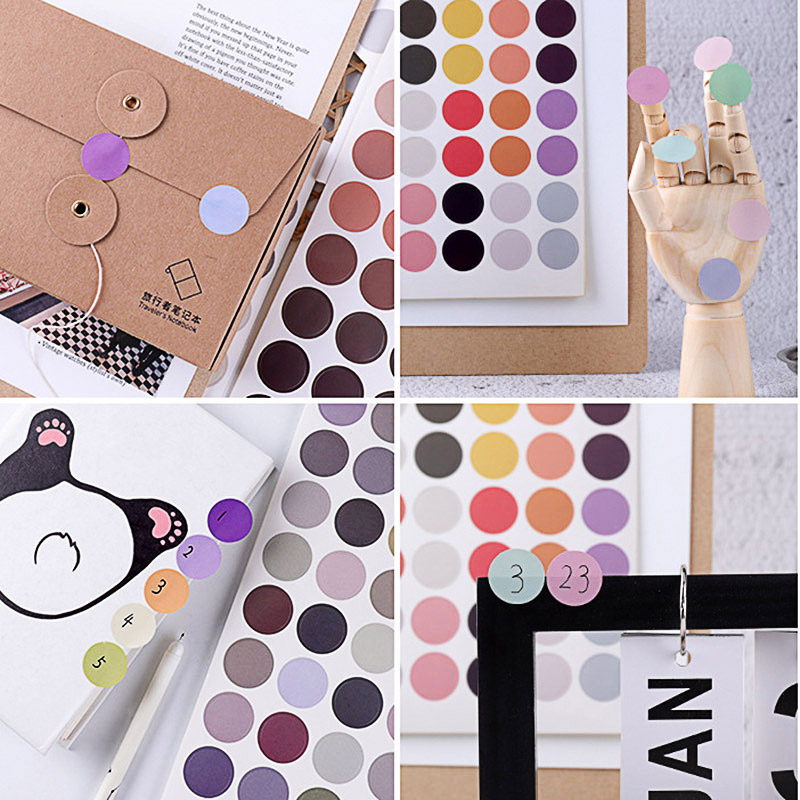 1Sheet=48Pcs Cute Decor Stickers Kawaii Dot Stickers Paper Adhesive Sticker For Kids Scrapbooking Diary Supplies Stationery image