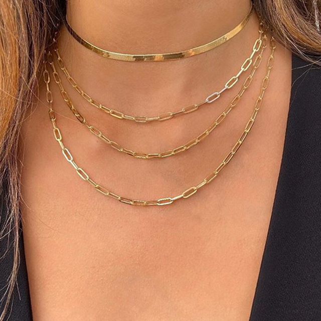 Layered Necklace Chain  5
