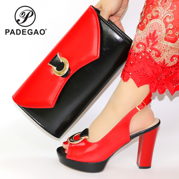 New Italian High Heels Autumn Slipper for Wedding Italian Shoes with Matching Bags High Quality African Ladies Shoes atching Set
