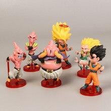 6pcs Dragon Ball Super Saiyan Son Goku Gokou Majin Buu Dragon ball Figure Action PVC Collectible Model Toy with box