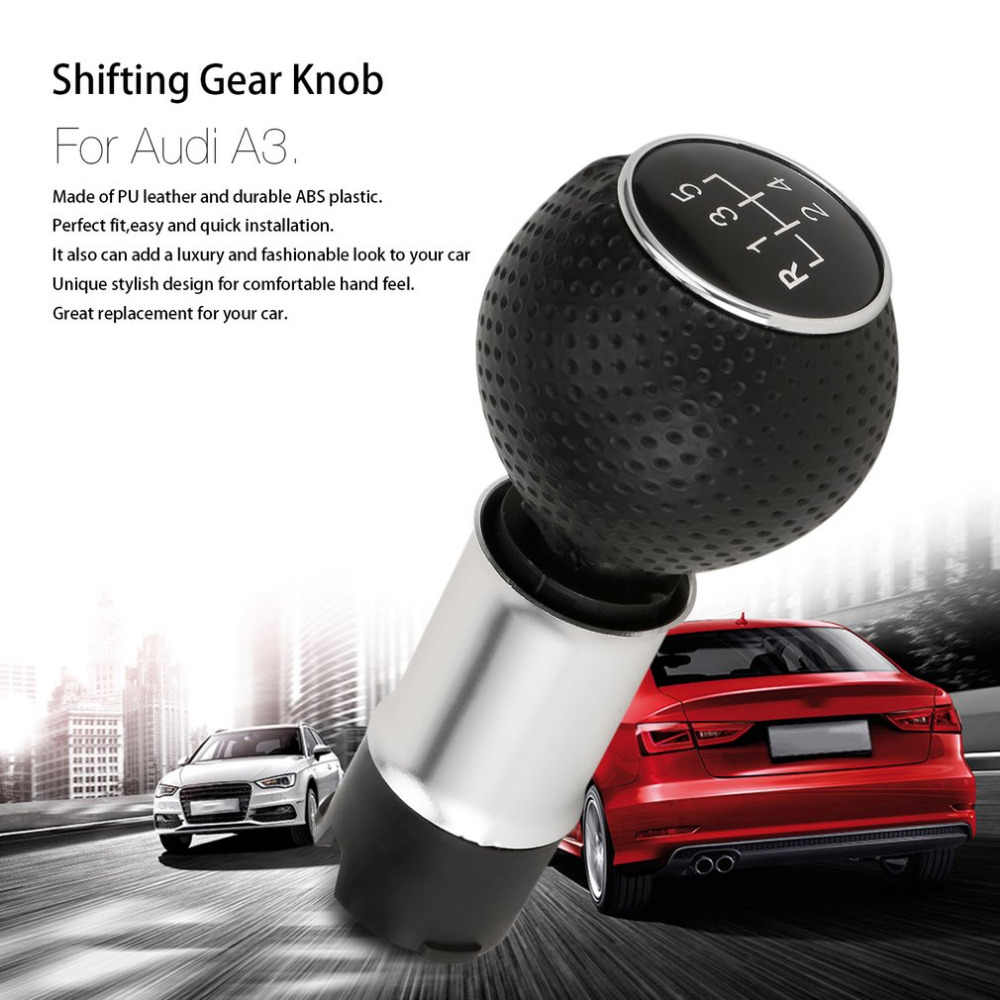 Professionele 5/6 Speed Manual Gear Shifting Knop LeverStick Handvat Handbal Hoofd Accessoire Voor Audi A3 Drop Shipping