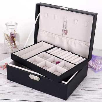Fashion Wooden PU Jewelry Box