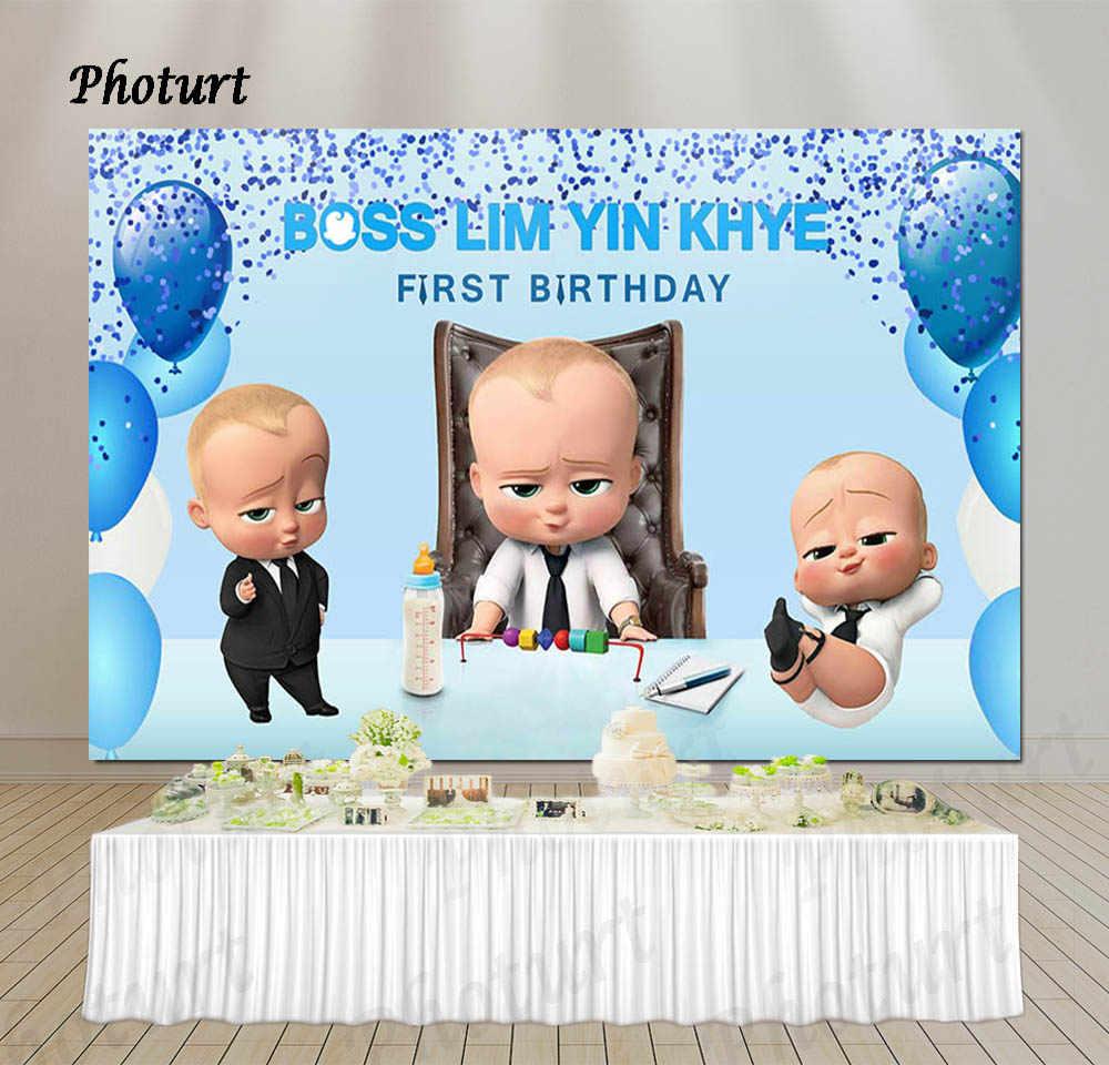 Boss Baby Party Vinyl Banner