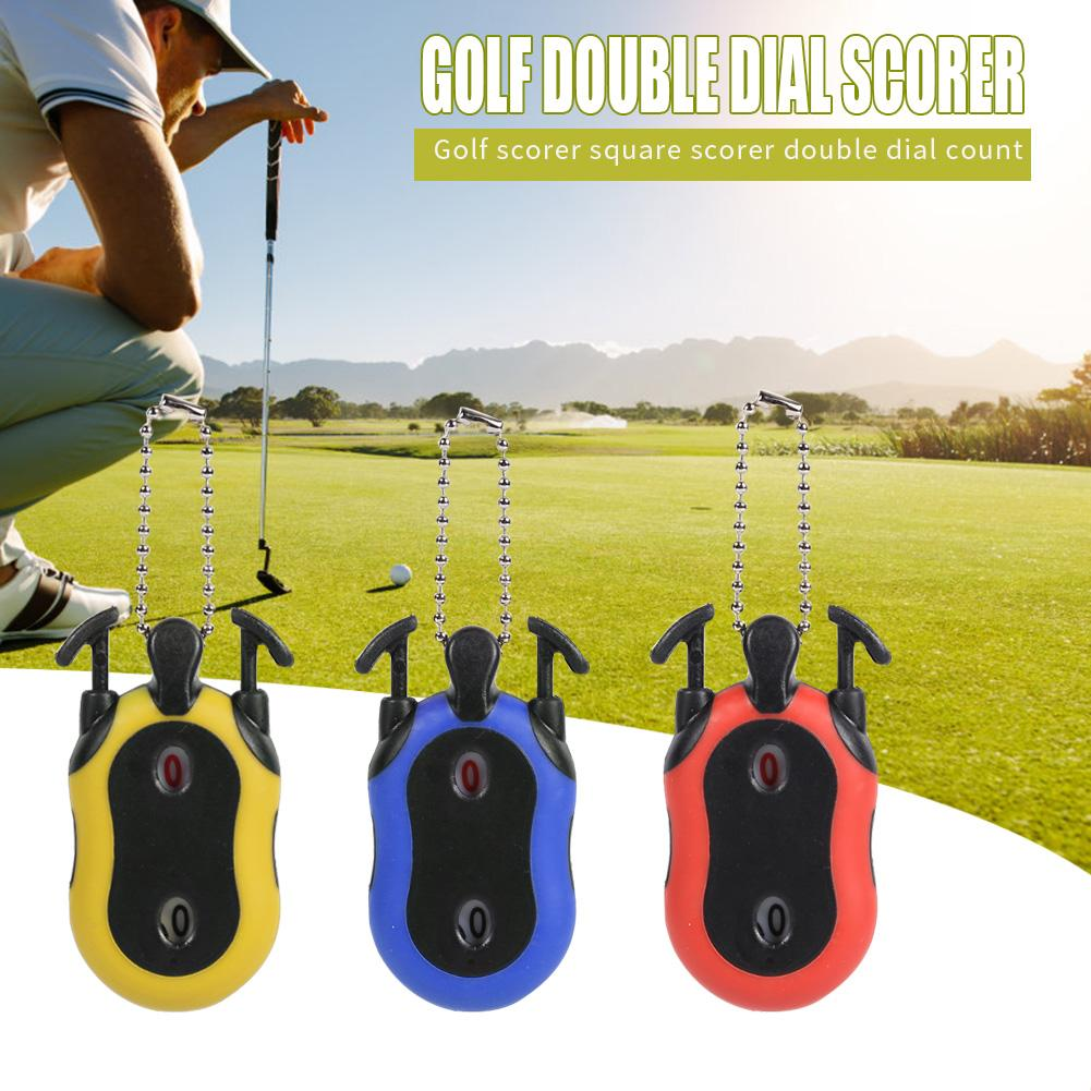 ABS Dual Digits Square Scorer Indicator High Precision Sensitive Golf Stroke Shot Putt Score Counter Outdoor Golf Accessories