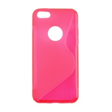 цена на S-line Wave Back Skin Ultra-thin TPU Protective Case Cover for iphone 5C
