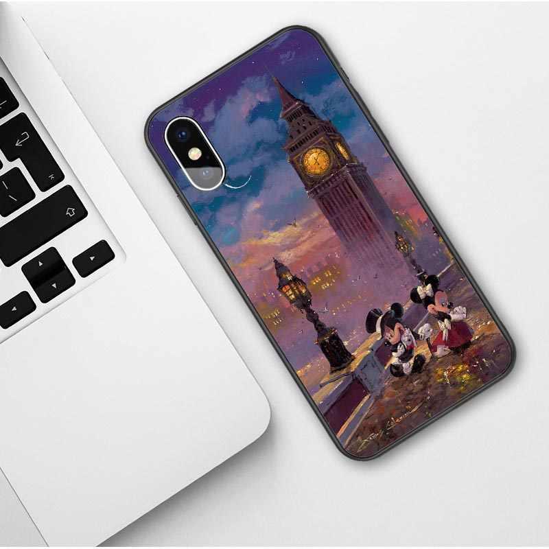 Tinker bell Mickey Mouse Minnie Lilo Ponto Ohana Caso Macio TPU Tampa Do Telefone para o iphone X SE 5 5S 6 6S Plus 7 8 Mais XS XR XS MAX