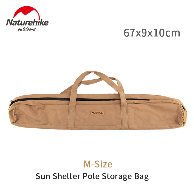 Naturehike 85*12cm Portable Storage Bag Camping Accessories Tent Pole Sun Shelter Rod Wear Resisting Hand Bag Big Capacity