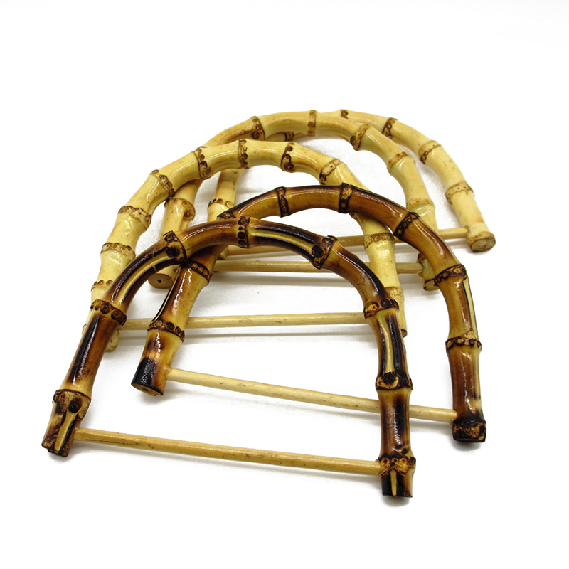 1Pcs D Shape Bamboo Bag Handles Handmade Handbag DIY Tote Purse Making Bag Accessories Replacement Fashion Wood Bag Handles