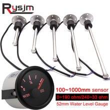 52mm Wasser Level Gauge Sensoren 0-190ohm 240-33ohm Kraftstoff Niveau Sensor 150 250 300 350 mm Kraftstoff Sender Einheit Auto gauge für Auto Boot
