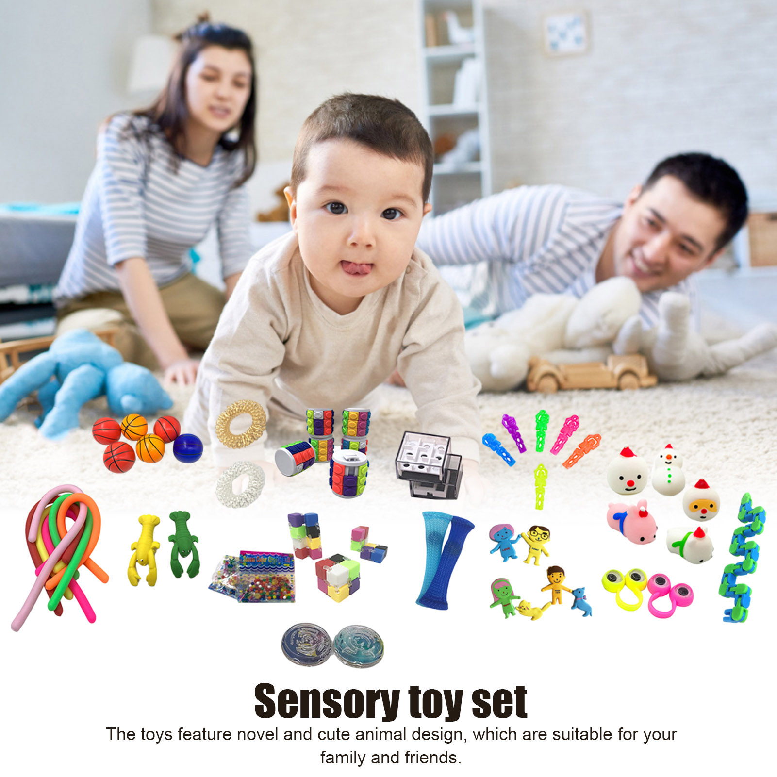 10/50Pcs Pack Sensory Fidget Toy Set Stress Relief Toys Autism Anxiety Relief Stress img2