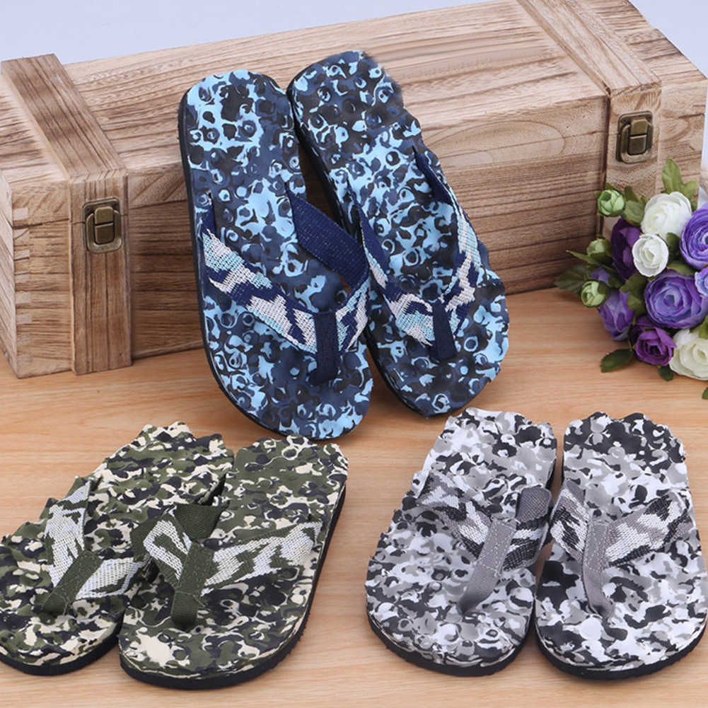 Heren Zomer Mode Camouflage Strand Slippers Indoor Outdoor Sandalen Slipper Grote Maat 40-45