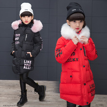 Winter Jacket Childrens Thicken Kids Cotton-padded Clothes Girl Park Lively Overalls For Girls