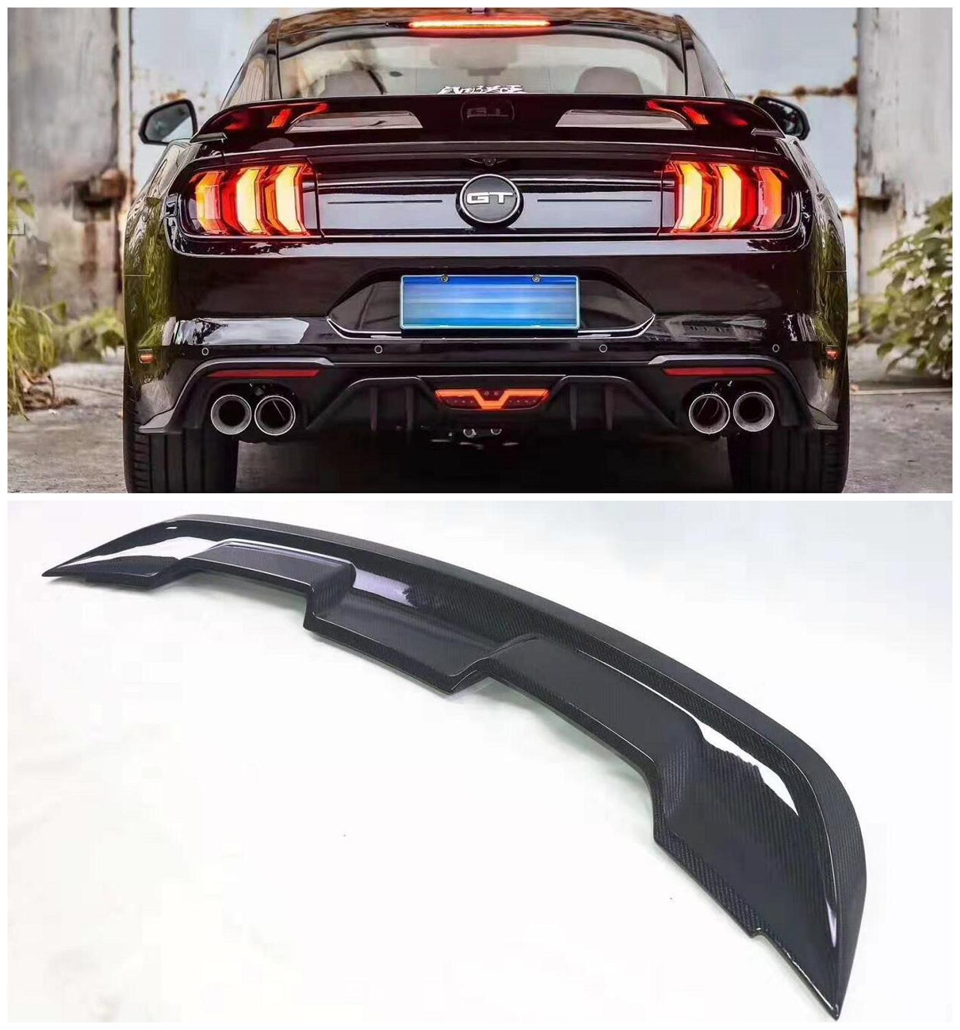 Carbon Fiber Car Rear Wing Trunk Lip <font><b>Spoilers</b></font> Fits For Ford <font><b>Mustang</b></font> <font><b>2015</b></font> 2016 2017 2018 2019 image