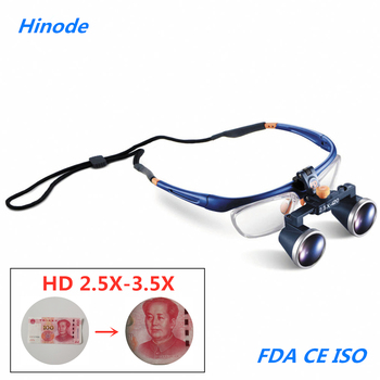 2.5X 3.5X Medical Surgical Dental Galileo Binocular Magnifier Loupes Protective Spectacles Glasses FD-503G Industry detection