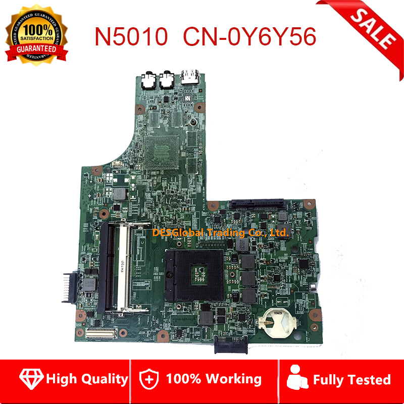 For DELL Inspiron 15R N5010 Laptop Motherboard CN-0Y6Y56 48.4HH01.011 Mainboard