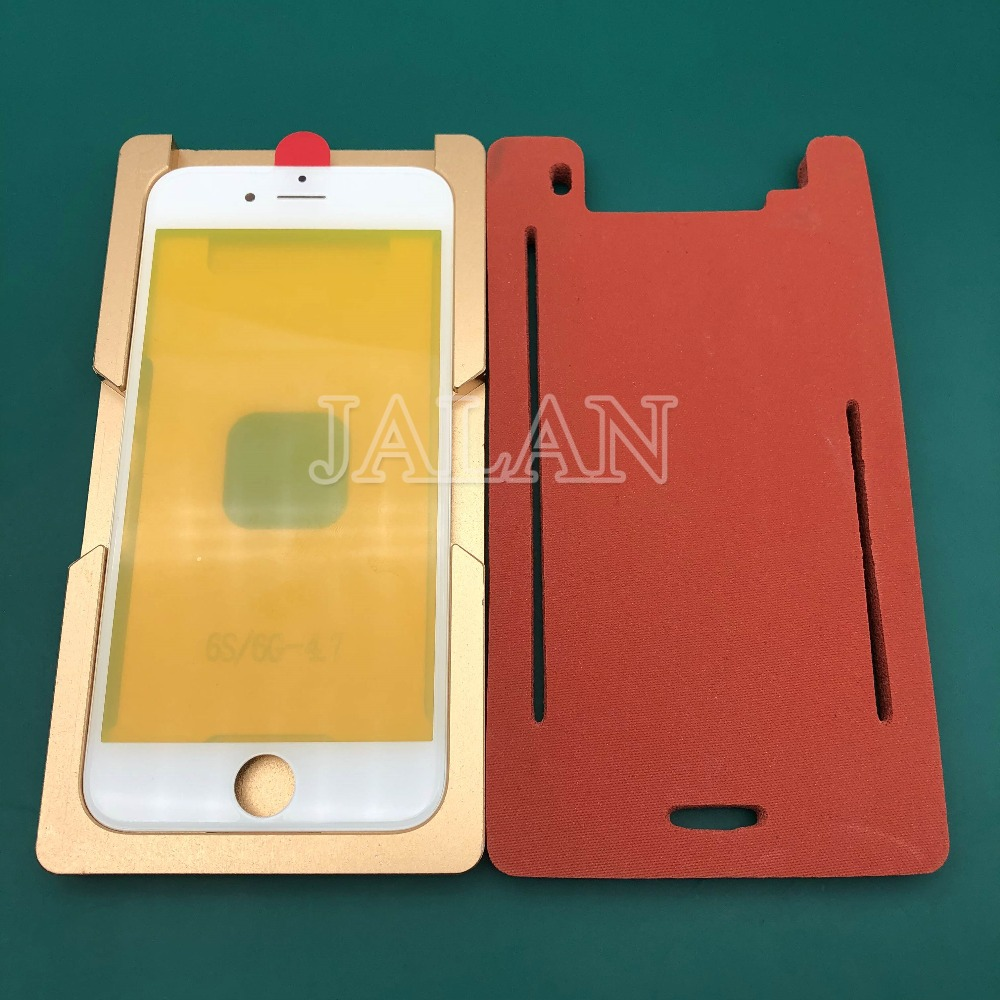 Precision aluminium mould For iphone 6G 6S Laminator mold for the front glass with frame Location display laminating use|Phone Repair Tool Sets| |  -